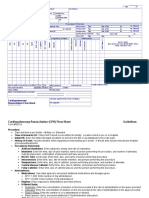 CPR CODE Flow Sheet
