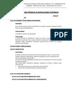 Especificaciones Técnicas Instalaciones Eléctricas