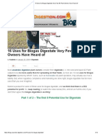 16 Uses for Biogas Digestate
