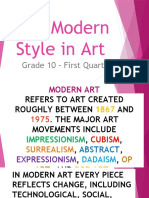 The Modern Style in Art