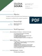 updated resume-cv