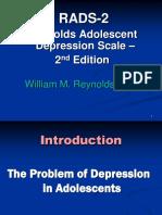 Reynolds Adolescent depression scale