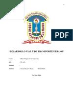 Desarrollo Vial y de Transporte Urbano