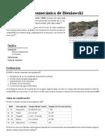 Clasificación Geomecánica de Bieniawski