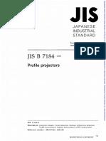 JIS B 7184 - 1999 - Profile Projector