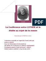 Luther Martin - La Conf'Rence Entre Luther Et Le Diable Au Sujet de La Messe