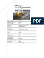 Technical Datas of Automatic Wall Plastering Machine