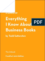 Everything I Know About Business Books - A Sample - Frankfurt 2010 Edition