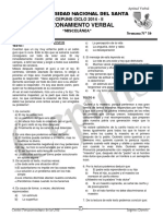 Razonamiento Verbal Semana 16 - 2014 - II