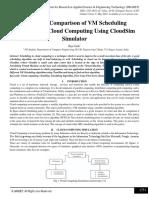 Study and Comparison of VM Scheduling Algorithm in Cloud Computing Using CloudSim Simulator