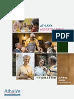 Nutrition for Seniors | April Newsletter | Athulya Living