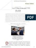 Les USA et l'Otan évincent l'UE en crise, par Manlio Dinucci