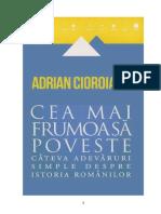 Adrian Cioroianu - Cea Mai Frumoasa Poveste
