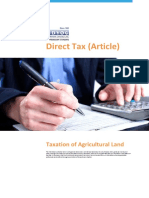Direct Tax Article Taxation of Agricultural Land