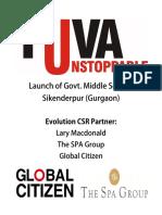 Govt Middle School, Sikenderpur Ghosi, Gurgaon, Yuva Unstoppable - Positive Rishikumar