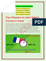 Top 4 Reasons to Learn Rolla French Courses in Dubai