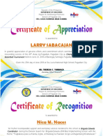 PLATA 2Certificate of Appreciation