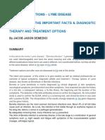 Lyme Disease Summary (also called Borrelliosis) Jacob Jason Demedici