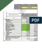 Presupuesto Resumen a Precios de Mercado Alt. 1
