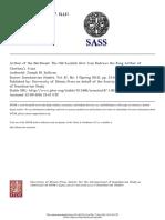 Scandinavian Studies Volume 87 Issue 1 2015 [Doi 10.5406%2Fscanstud.87.1.0033] Sullivan, -- Arthur of the Northeast- The Old Swedish Herr Ivan Redraws the King Arthur of Chrétien's Yvain