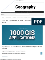 1000 GIS Applications & Uses