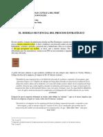 1.2 El Modelo Secuencial Del Proceso Estratégico