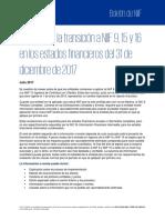 IMPACTO DE LA TRANSACCIÓN A NIIF 9 Y NIIF 15