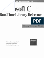 Microsoft C RunTime Library Reference