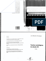 Teorias Sociologicas Do Seculo XX - Jose