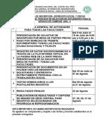 Cronograma y Requisitos 2018 - II