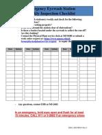 Eyewashinspection Checklist 2012 _0