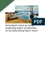 Itong Beach Resort Ay Isang Magandag Beach Sa Batangas Ito Ay Kilala Bilang Beach Resort