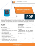 Datasheet Mini Otdr Orientek t303 Infortel