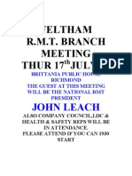 Feltham Branch Meeting July 2008