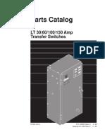 913-0202B Onan LT Series (Spec J) 30 to 150 Amp Transfer Switch Parts Manual (04-1999)