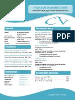 Contoh Curriculum Vitae CV Daftar Riwayat Hidup Atau Resume Ms Word