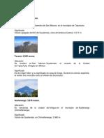 37 Volcenes de Guatemala