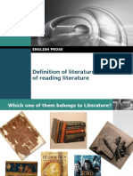 1 Definition of Literarture and Benefit of Reading Litereture