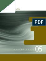 AZSA Informe 2005 - Asturiana de Zinc