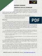 Rapport Sondage Presidentielle 2018
