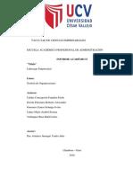 Liderazgo Empresarial Informe I CICLO DAVILA