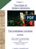 1 the Origin of Modern Astronomy
