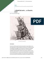 Franz Pfemfert - A Doença Infantil de Lenin… e a Terceira Internacional