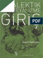 August Thalheimer Diyalektik Materyalizme Giriş Yordam Kitap