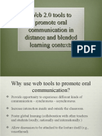 Oral communication with web 2.0 tools