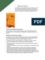 Naranja y Sus Vitaminas