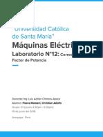 Informe 12 Máquinas Eléctricas