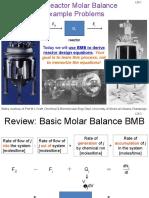 L2b Reactor Mole Balance Example Problems
