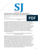 Thesportjournal.org-Transformational Leadership and Organizational Effectiveness in Recreational SportsFitness Programs