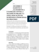 DISCURSOS SOBRE O ENFRENTAMENTO À VIOLÊNCIA DOMÉSTICA E FAMILIAR CONTRA A MULHER NO BRASIL E A (NÃO) APLICAÇÃO DA SUSPENSÃO CONDICIONAL DO PROCESSO - Alberto Carvalho Amaral